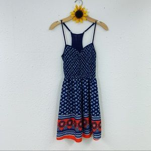 Xhilaration Navy Coral Sun Dress